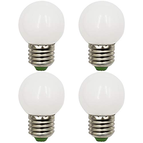 LED-lamp E27 dimbaar warmwit 3000K 3W Vervangt 20W 25W 30W Gloeilampen Mini G45 Globus Lamp 220-240V, 4-pack [meerweg]