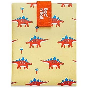 Rolleat - BocnRoll Animals Dino - Bolsa Merienda Infantil Porta Bocadillos Ecológica y Reutilizable sin BPA: Amazon.es: Hogar