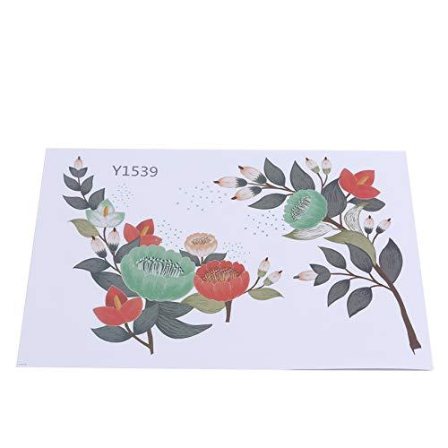 unknow Liangwan Blumenwandaufkleber Fenster Kühlschrank Kühlschrank Wandkunst Aufkleber für Wohnzimmer Schlafzimmer Wohnkultur Aufkleber