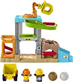 Fisher-Price Little People Load Up 'n Learn Construction Site, Musical playset with Dump Truck for Toddlers and Preschool Kids Ages 1 ½ to 5 Years