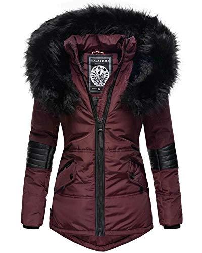 Navahoo Damen Winter Jacke Designer Parka Kunstfell Winterjacke B369