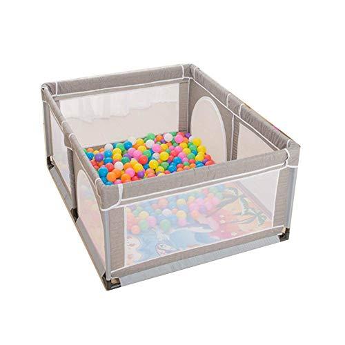 FFYN Corralitos para bebés Corralito para bebés Gemelos Valla para niños pequeños Interior Exterior Resistente al Desgaste Portátil, 2 Colores (Color: B, Tamaño: 150x120x70cm)