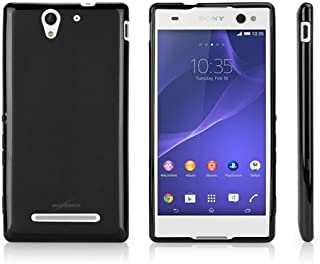 Sony Xperia C3 Case, BoxWave [Blackout Case] Durable, Slim Fit, Black TPU Cover for Sony Xperia C3