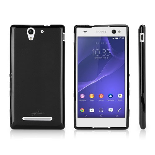 Case for Sony Xperia C3 (Case by BoxWave) - Blackout Case, Durable, Slim Fit, Black TPU Cover for Sony Xperia C3