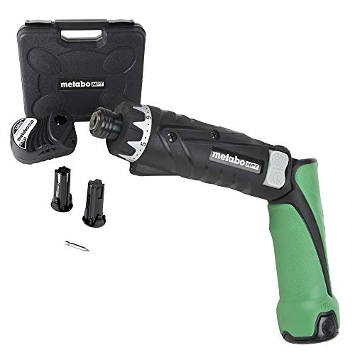 Metabo HPT DB3DL2 Cordless Screwdriver Kit, 3.6V, Lithium Ion Batteries - 2, Dual Position Handle, LED Light, 21 Clutch Settings, Lifetime Tool Warranty