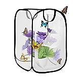 AiYoYo Insekten und Schmetterlings Habitat käfig Faltbare wasserdichte Schmetterlingshäuser Anti-Moskito Schmetterlingshaustierzelt Mini Transparent Gewächshaus Wachsen Haus 40 * 40 *