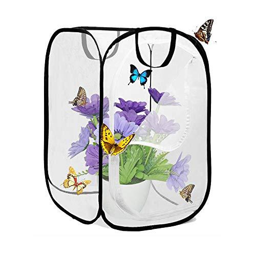 AiYoYo Insekten und Schmetterlings Habitat käfig Faltbare Wasserdichte Schmetterlingshäuser Anti-Moskito Schmetterlingshaustierzelt Pop-up - 60cm Hoch Mini Transparent Gewächshaus Wachsen Haus