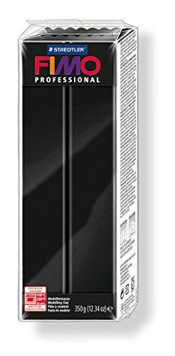 Staedtler 8001-9. Pasta para modelar Fimo Professional, color negro. Caja con una pastilla de 350 g.