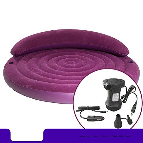 HUWAI Divano letto inclinato rotondo divano letto matrimoniale materasso gonfiabile Letto rotondo romantico più letto ad aria (HouseholdCar elettrico aerato) XQQQ