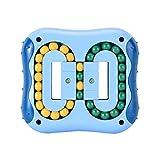 DJXLMN Juguete de descompresión de Cubo de Rubik con Punta de Dedo de Frijol mágico Giratorio Juguete de Inteligencia para Ejercicio,Indigo