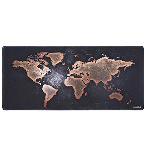 JIALONG Tapis de Souris Gaming XXL Grand sous Main Bureau Tapis Souris Gamer 900x400 (Map Monde)