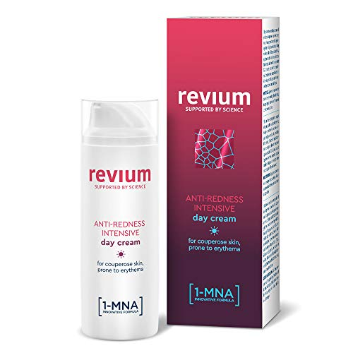 REVIUM ROSACEA - ANTI-REDNESS INTENSIVE DAY CREAM UVA UVB FILTERS WITH 1-MNA MOLECULE, CORALLINA OFFICINALIS RED ALGAE EXRACT, ACEROLA FRUIT, FOR COUPREOSE SKIN PRONE TO ERYTHEMA