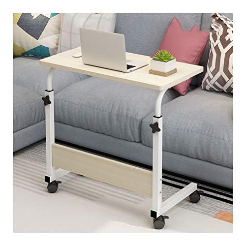 Laptoptisch Computertisch Mit Rollen Höhenverstellbar, PC Tisch Laptopständer Pflegetisch Beistelltisch Für Bett Und Sofa Laptoptisch (Color : Maple, Size : 80x50cm)