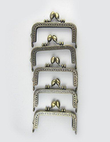 ノーブランド アンティーク風 がま口 角型 くし型 口金 セット どんぐり 選べる 材料 手芸材料 ハンドメイド 角型どんぐり8.5cm10個