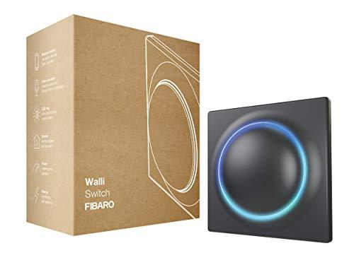 FIBARO Walli Switch/Z-Wave Plus FGWDSEU-221-8 - Interruptor de relé (inalámbrico, encendido y apagado), color antracita