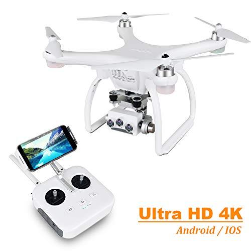 UPAIR Two Drohne mit 4K Kamera, 3D Kamera Drohne mit GPS und Optische Fluss Positionierung, Flug Planen, Auto Return, Professionelle Drohne für Anfänger