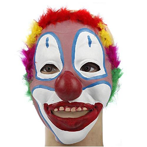 YiYuDe Masken Paintball-Schutzmasken Erwachsenenmaske Halloween-Latexmaske Clown Face Adult Child Dress Up Show, Clown