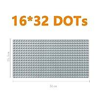 モデルビルディングブロック Mktoys duplosベースプレート大型ビルディングブロックのための大型サイズのレンガの贈り物 (Color : 16X32 GREY, Size : L)