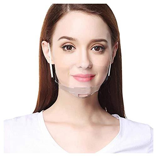 10 Stück Safety Face Shield Kunststoff Visier Gesichtsschutz Anti-Fog Anti-Öl Splash Transparent Schutzvisier - Essen Hygiene Spezielle Anti-Saliva Gesichtsschutzschild (10 PC, B)