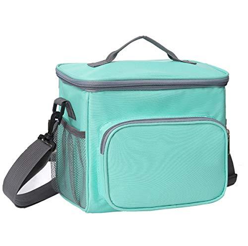 JOJYO Kühltasche, Isoliert Picknicktasche Lunch-Tasche 10L Kühltasche Picknicktasche Kühltasche Isoliertasche für Lebensmitteltransport Lagerung Picknick Camping Reisen Wasserdicht Faltbar (Blue)