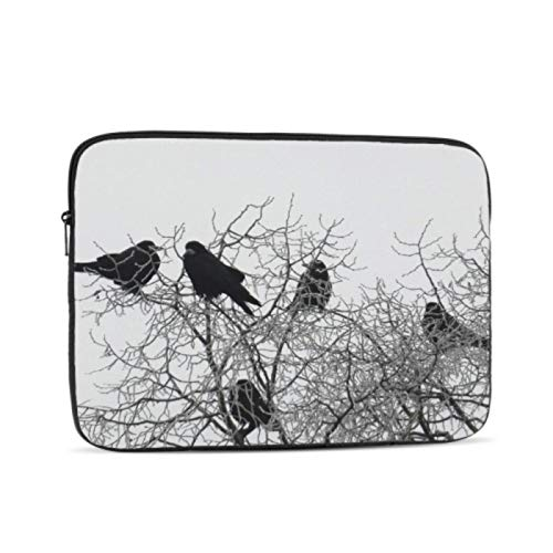 13 Inch Laptop Case Crow Winter Wintry Cold Winter Mood Frost Trees Macbook Air 13 Case Multi-Color & Size Choices10/12/13/15/17 Inch Computer Tablet Briefcase Carrying Bag