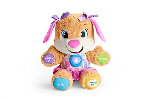 Fisher-Price la sœur de Puppy Eveil Progressif jouet bébé, peluche interactive, version espagnole, 6 mois et plus, FPP55