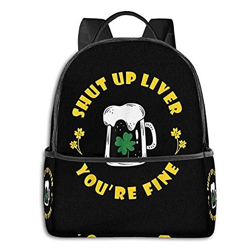 Mochila escolar de San Patricio, unisex, clásica, casual, mochila de San Patricio.