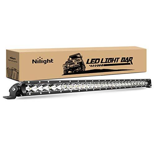Nilight - 40005C-A 31inch 150W Spot & Flood Combo Single Row 14500LM Off...