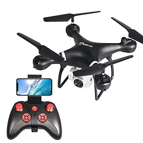 HJRBM Drone HD Fotografia Aerea Resistente alle Cadute Aereo a 4 Assi WiFi Trasmissione di Immagini Telecomando Drone Aereo Giocattolo per Bambini Adulti Ragazzi Ragazze Compleanno