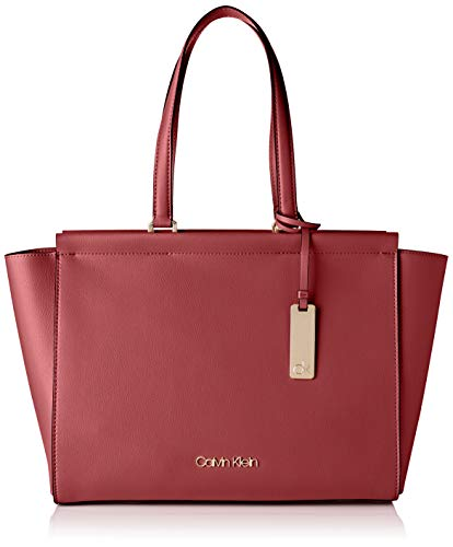 Calvin Klein Damen Enfold Shopper Umhängetasche, Rot (Barn Red), 32x48x14cm