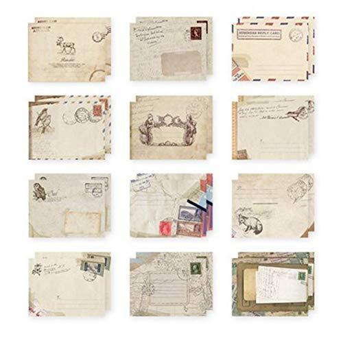 Ndier 12 sobres para tarjetas felicitacion estilo retro bonito