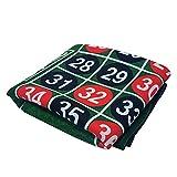 ALBBMY Mantel de póker 183 * 90 cm Goma de Goma Cuadrada Verde Ruleta Negra Jack póker Alfombra póker Juego Tablero Tablero paño con Bolso de Hombro