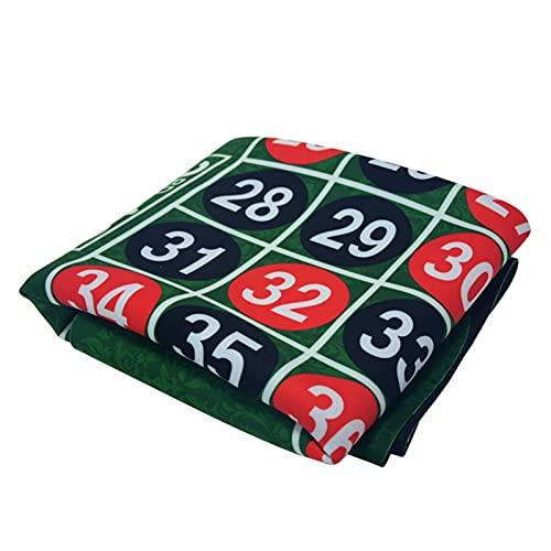 LQIAN Profi Pokermatte Poker Tischdecke 183 * 90cm Wildleder Gummi Quadrat grüne Roulette Black...