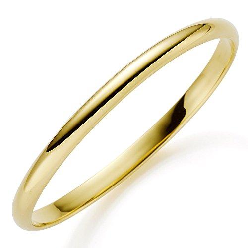 Armreif 5,5mm 585 Echt Gold Gelbgold glatt glänzend Armband Armschmuck Damen