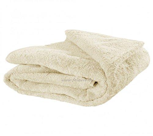 XXL Strandtuch – Handtuch in großen Größen - Übergröße in der Farbe beige (155 x 220 cm, Beige)