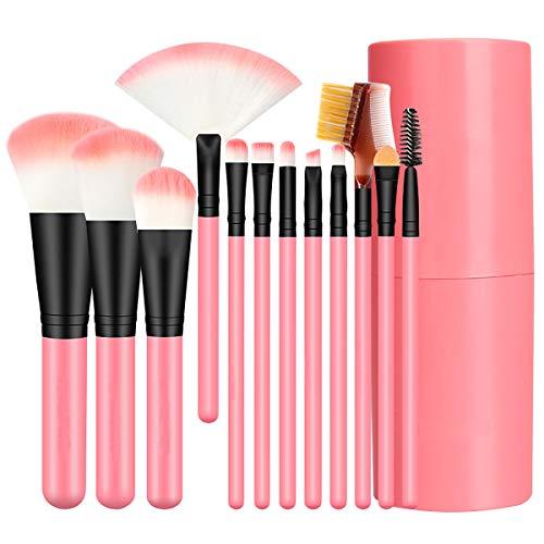 Make Up Pinsel Set 12 Stück Professioneller Foundation Pinselset Premium Kosmetikpinsel Augen...