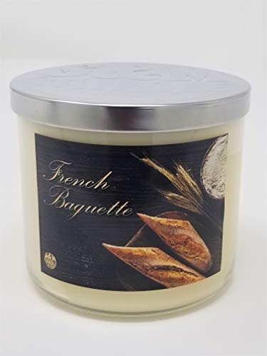 French Baguette Candle ~ Warm Buttered Bread Scented Candle ~ 3 Wick ~ 100% Soy Wax (Large 3 Wick)