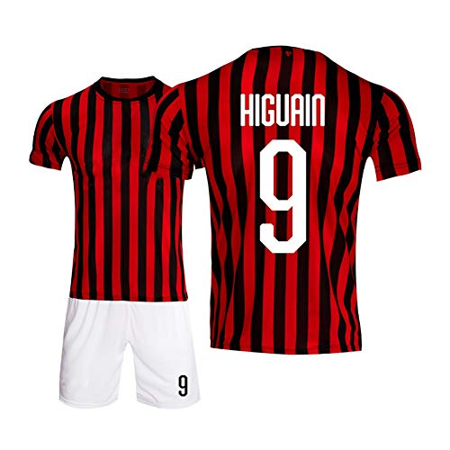 LDFN Neue Saison-Fußball Jersey, Gonzalo Higuaín # 9 Basketball-Trikot, Breathable Sports Short Sleeve, Männer Und Kinder, Standardgröße (Color : A, Size : Child-28)