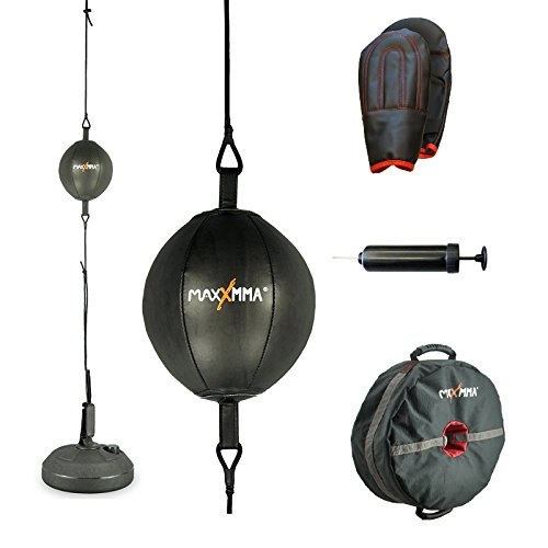 MaxxMMA Double End Striking Punching Bag Kit + MaxxMMA Core Training Weight Bag Multifunctional 3-in-1