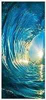 ウォールステッカー シール 貼ってはがせる 室内用ドア装飾シート 防水シール 部屋 ドアシート ドア壁紙 DIY おしゃれ たそがれ 波のしぶき 飾り M092