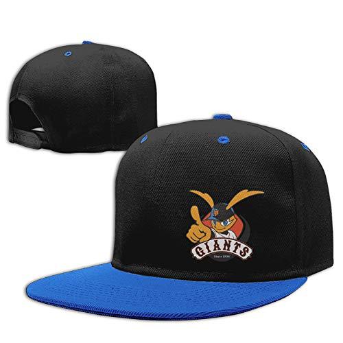 Jiso-Bag コントラスト ヒップホップ ベースボール キャップ 野球 東京ジャイアンツ Blue 帽子 野球帽 平つば 硬つば 長つば スナップボタン メンズ