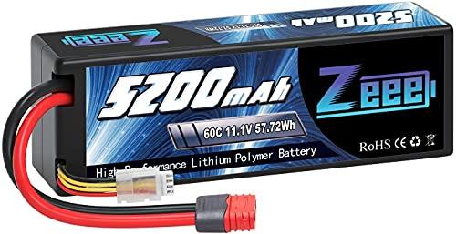 Zeee 3S lipo 11,1V 5200mAh 60C litio Batteria RC batteria Hard Case, con connectore Avanzato Deans T spina, per RC Evader BX RC Veicolo Auto LKW Truggy RC Nave RC Modells RC Hobby