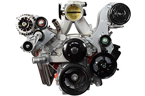 ICT Billet S10 LS Swap A/C Compressor and Power Steering Bracket Compatible with LS1 LM7 LR4 LQ4 L59 LQ9 LM4 L33 L92 L76 LY6 LC9 LH8 LMG LS3 L99 L96 RPO codes 4.8L 5.3L 6.0L 551779-3