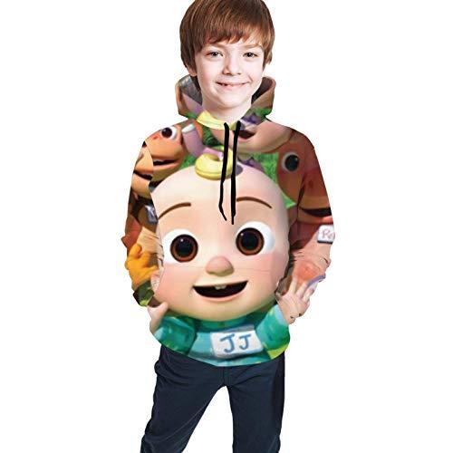 Jupsero Coco Melon 3D Sudadera con Capucha con Estampado Digital Bolsillo niño y niña Adolescente Sudadera con Capucha
