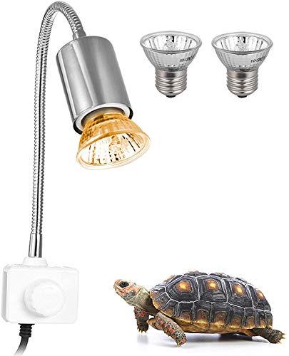 Decdeal Schildkröte Wärmelampe für Aquarium Reptil mit Clip 25W 360 ° Drehbar