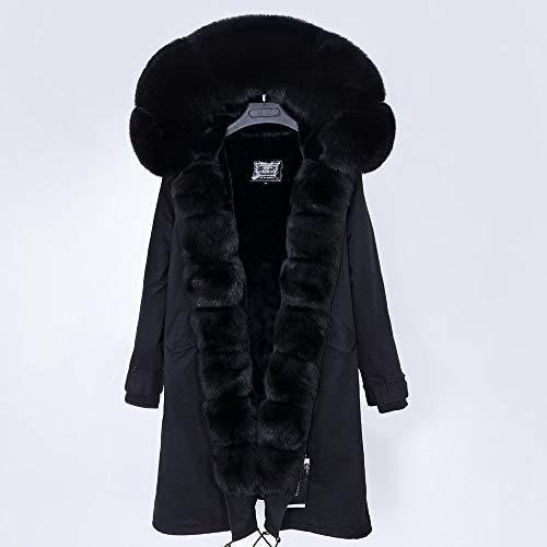 JNXFUZMG 2020 Mujeres de Invierno Abrigo Largo Abrigo de Moda Parques con Capucha Cuello Natural Chaquetas de Invierno (Color : 11, Size : X-Large)