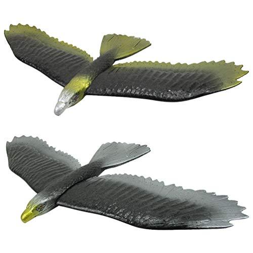 Toyvian 2 Piezas de Aviones Planeadores Voladores DIY Eagle