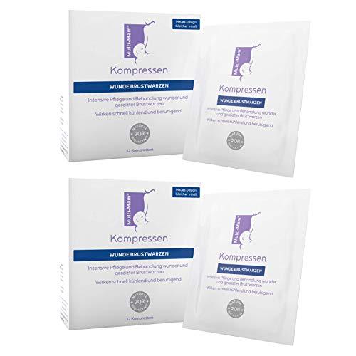 Multi-Mam Kompressen zur Pflege und Behandlung wunder und gereizter Brustwarzen - 12 Kompressen (2 Pack)