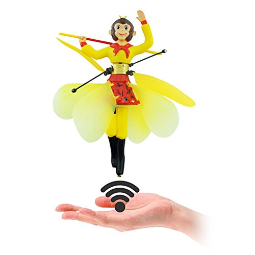 Flying Fairy Doll Hand Infrared Induction Control Dolls Child Fly Toy Gift (Monkey King)