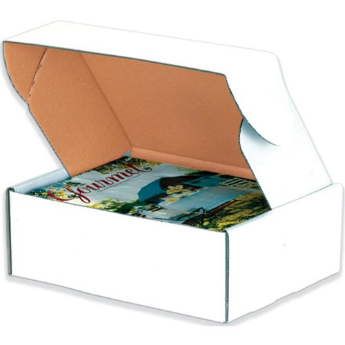 Aviditi Deluxe Literature Mailing Boxes, 13 x 10 x 4 Inches, Pack of 50, Crush-Proof, for Shipping, Mailing and Storing, Oyster White